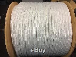 3/4 polyester double braid rope white or white flecks 300 feet