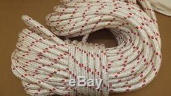 3/4 x 100' Double Braid Rope, Arborist Bull Rope, Rigging Line, Hoist Line, NEW