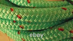 3/4 x 115' Double Braid Rope, Arborist Bull Rope, Rigging Line, Hoist Line, NEW