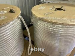 3/4 x 1200' Polyester Double Braid cable pulling rope with 6 eyes on each end