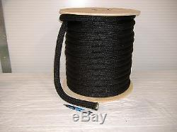 3/4 x 200 feet DOUBLE BRAID NYLON ROPE dock anchor mooring pull lines Black
