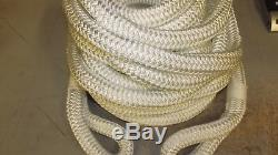 3/4 x 60' Double Braid Rope, Tow Rope, Bull Rope, Rigging Line, Anchor Line
