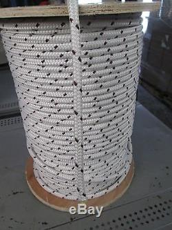 3/8 X 150' CABLEMAX DOUBLE BRAID POLYESTER/KEVLAR CABLE PULLING ROPE9100Lb USA