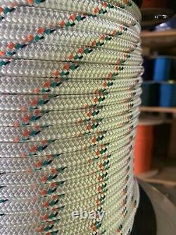 3/8 x 600 ft. Double Braid-Yacht Braid Polyester Rope. US Made