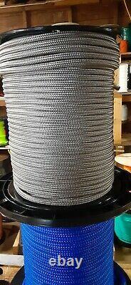 3/8 x 600 ft. Double BraidYacht Braid Polyester Rope Spool. Platinum