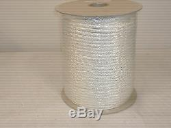 3/8x500 feet Double Braid Nylon WHITE ROPE Anchor Dock Hoist Winch Lift