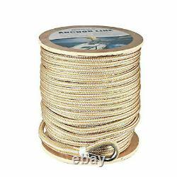 3/8x600' Nylon Dock Line Double Braid Nylon Anchor Line Marine Mooring Rope