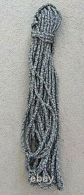 31m x 12mm Black / White Spectra Double Braid Yacht Halyard Sheet Marine Rope