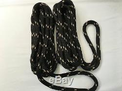(4) 5/8 X 30' Black & Gold Dock Line Double Braid Nylon Boat Rope Made In USA