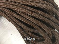 5/8 X 100' Double Braided Yacht Braid Brown Polyester Rope