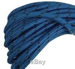 5/8 X 150' Double Braid Polyester Arborist Bull Rope Blue/Black