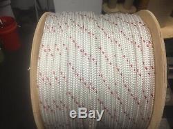 5/8 polyester double braid rope white or white flecks 300 feet
