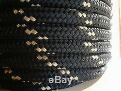 5/8 x 128 ft. Double BraidYacht Braid Nylon Rope. Black/Gold