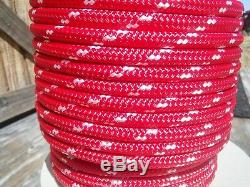 5/8 x 150 ft. Double Braid-Yacht Braid Polyester Rope. Made in USA