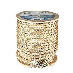 5/8 x 200' Double Braid Nylon Anchor Line Dock Line Rope with Stainless Thimble
