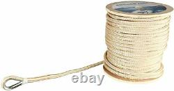 5/8 x 200' Double Braid Nylon Anchor Line Morning Rope Stainless Steel Thimble