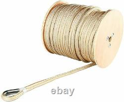 5/8 x 200' Double Braid Nylon Anchor Line Stainless Steel Thimble Morning Rope