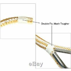 5/8 x 300' Double Braided Nylon Rope Anchor Line w Thimble White/Gold Dock Line