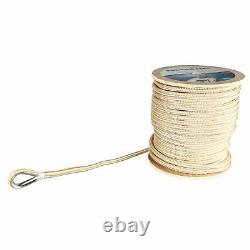 5/8 x 600' Double Braid Nylon Rope Anchor Line with Stainless Thimble Dock Rope