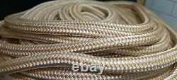 5/8 x600' Double Braid Nylon Dock Line Rope Anchor Line with Stainless Thimble