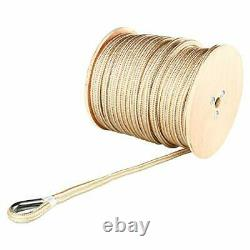 5/8x 300' Double Braid Nylon Rope Boat Anchor Dock Line with Stainless Thimble