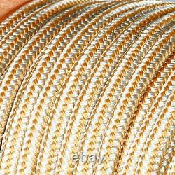 5/8x250Ft Double Braid Nylon Rope Anchor Line with Stainless Thimble Dock Line