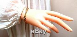 50ct Diamonds X Link Double Strand Rope Twist Bracelet 14 Karat