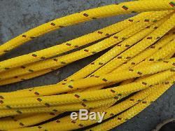 51' of 9/16 Amsteel II Plus Coated Yellow Dyneema Core Samson Rope Dual Braid