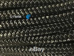 (6) Black Double Braided 1/2 x 20' ft HQ Boat Marine DOCK LINES Mooring Ropes