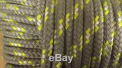 7/16, 11mm x 100' Double Braid Dyneema Halyard Line, Jibsheets, Boat Rope NEW