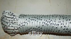 7/16, 11mm x 126' Double Braid Dyneema Halyard Line, Jibsheets, Boat Rope NEW