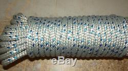7/16, 11mm x 137' Double Braid Dyneema Halyard Line, Jibsheets, Boat Rope NEW
