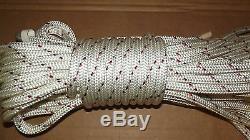 7/16 (11mm) x 80' Halyard Line, Dyneema Double Braid Line, Boat Rope - NEW