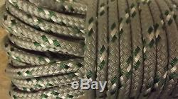 7/16, 11mm x 92' Double Braid Dyneema Halyard Line, Jibsheets, Boat Rope - NEW