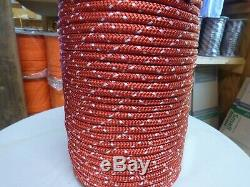 7/16 x 200 ft. Double BraidYacht Braid Polyester Rope. Made in USA