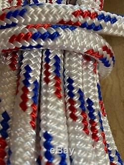 7/16 x 200 ft Pre-Cut Double Braid-Yacht Braid polyester rope hank