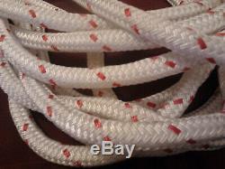 72' of 9/16 Amsteel II Coated Clear Dyneema Core Samson Rope Dual Braid