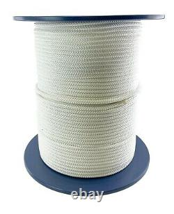 7mm White Double Braid Polyester Rope x 100 Metres, Quality Docklines Marine