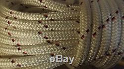 9/16 (14mm) x 124' Halyard Line, Dyneema Double Braid Line, Winch Rope - NEW