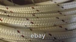 9/16 (14mm) x 90' Halyard Line, Dyneema Double Braid Line, Boat Rope - NEW