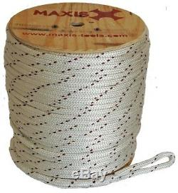 9/16 In x 600 ft Pulling Rope Double Braided 16,000 Lb Tensile Strength Non Wire