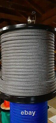 9/16 x 400 ft. Double Braid-Yacht Braid Polyester Rope Spool. Platinum