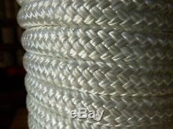 9/16 x 400 ft. Double BraidYacht Braid polyester Rope. White
