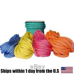 All Gear Arborist Tree Rigging Husky Bull Rope Double Braided 9/16 x 150 Yellow