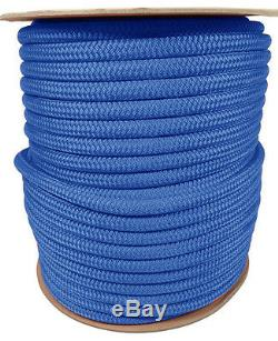 Anchor Rope Dock Line 1/2 X 200' Double Braided 100% Nylon Royal Made In USA
