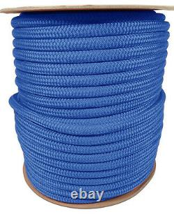 Anchor Rope Dock Line 3/8 X 200' Double Braided 100% Nylon Royal Made In USA