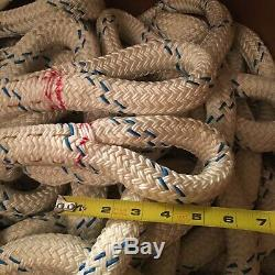 Approx 200 Samson Nystron 7/8 Winch Rope Rigging Line Polyester Double Braid