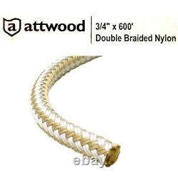 Attwood Boat Double Braided Rope 117625-1 3/4 x 600' Gold (Roll)