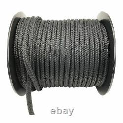 Black Quality Double Braid on Braid Polyester Mooring Yacht Marine Rope