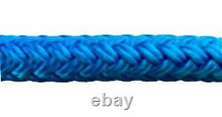 Blue Quality Double Braid on Braid Polyester Mooring Yacht Marine Rope